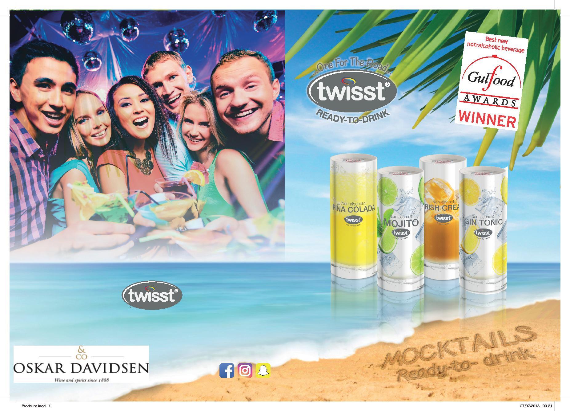 TWISST - Alkoholfrie Ready2Drink MOCKTAILS