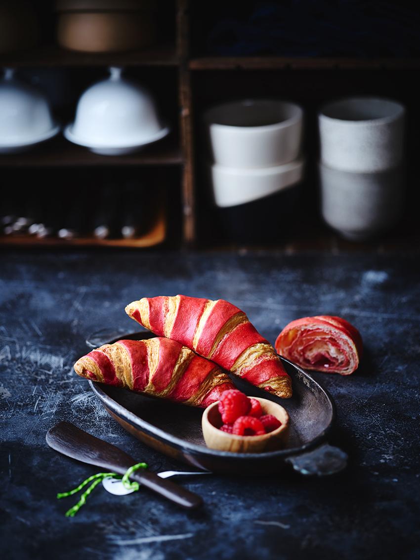 Dobbelt Hindbær Mini-croissant