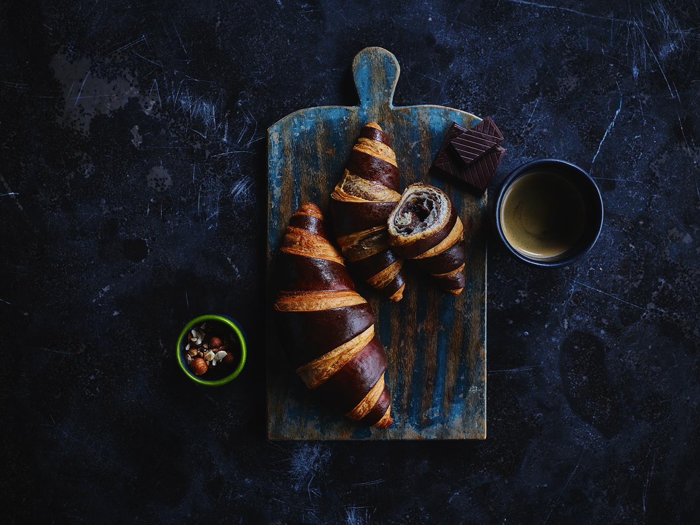 Dobbelt Choko Mini-croissant