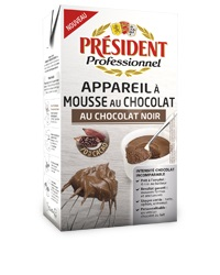Président Dark Choco Mousse 1 liter