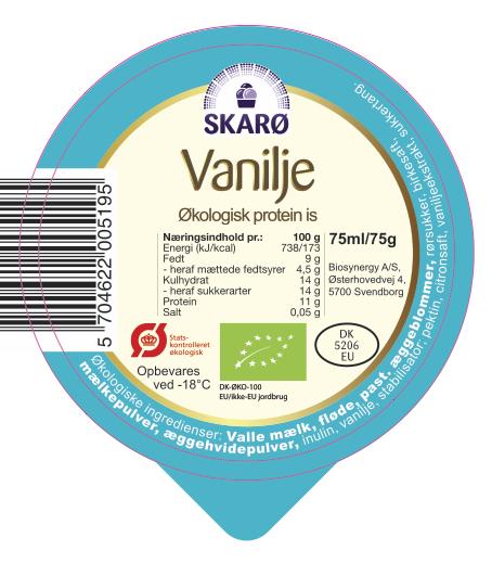Vanilje økologisk protein is