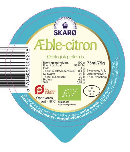 ÆbleCitron økologisk protein is