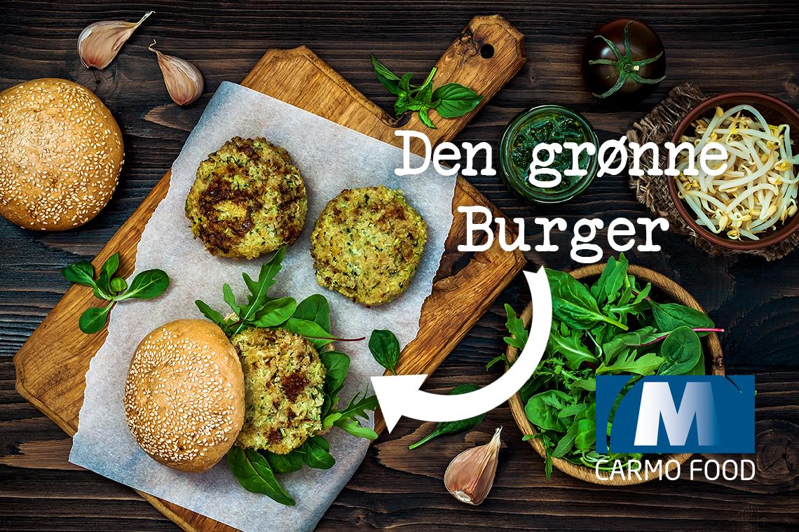 Den Grønne Veganske Burger Bøf