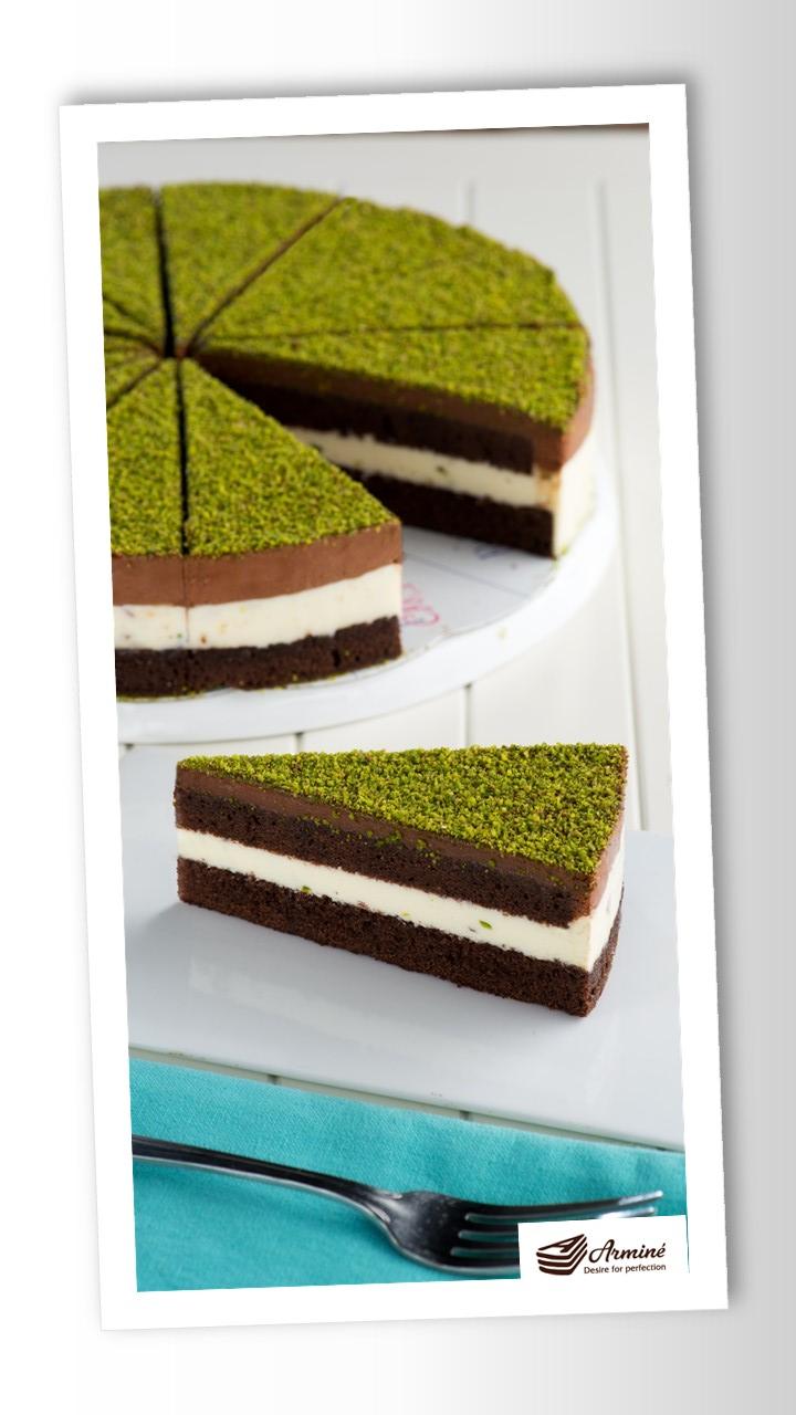 Pistaciedrøm kage