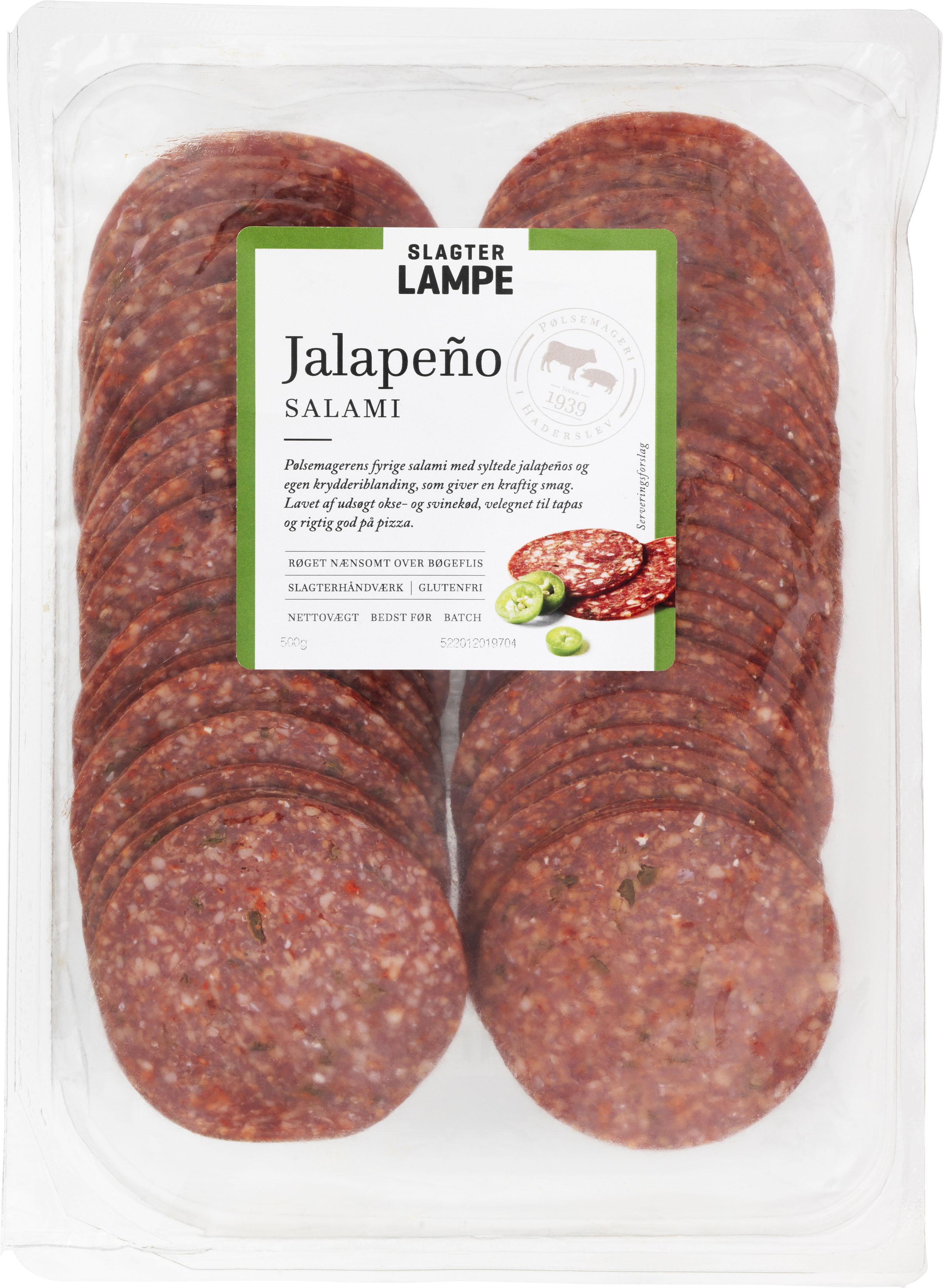 Jalapeño salami, skiveskåret 500 g