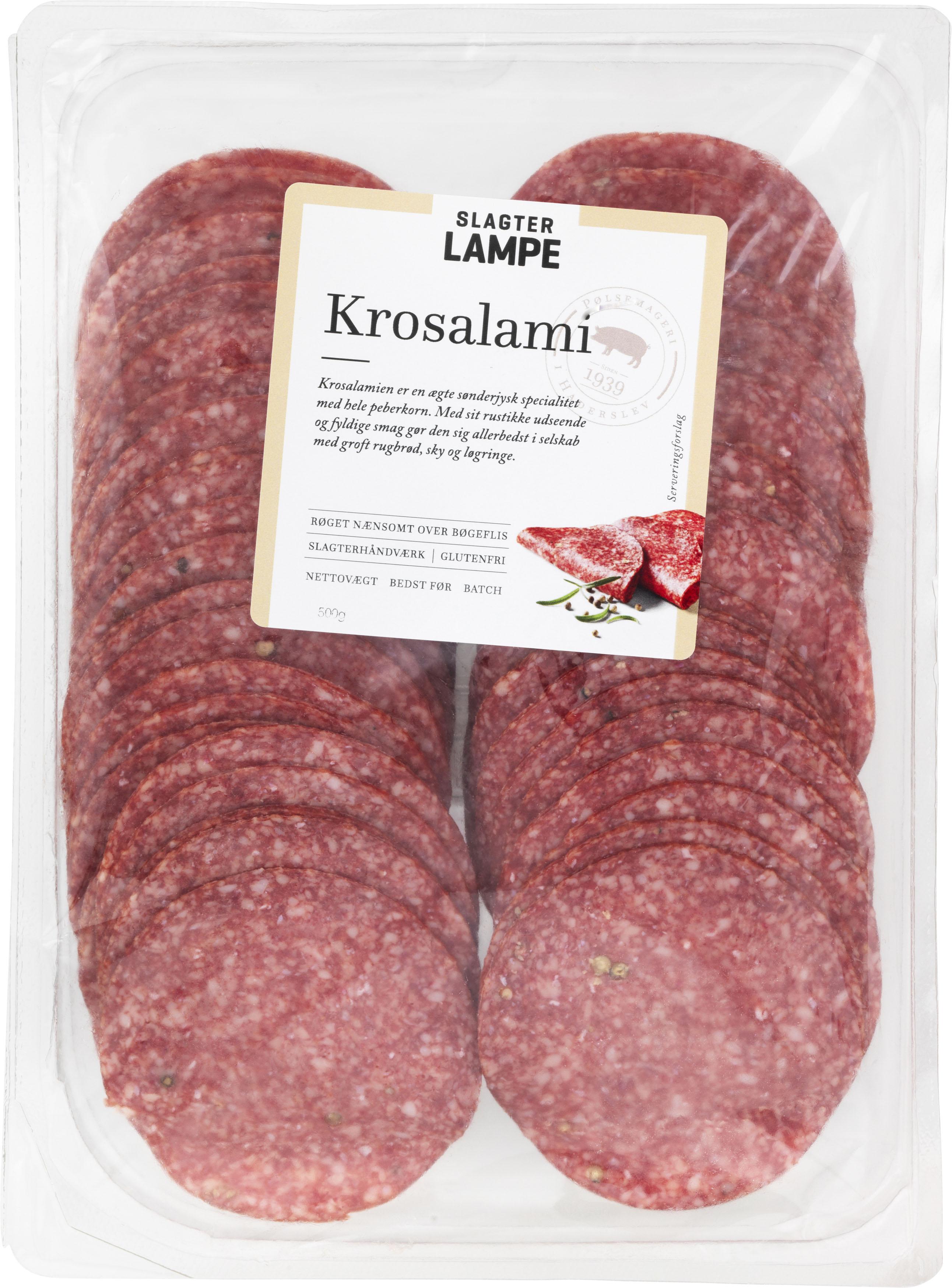 Krosalami, skiveskåret 500 g